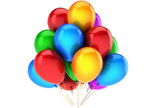 11 multicolored balloons