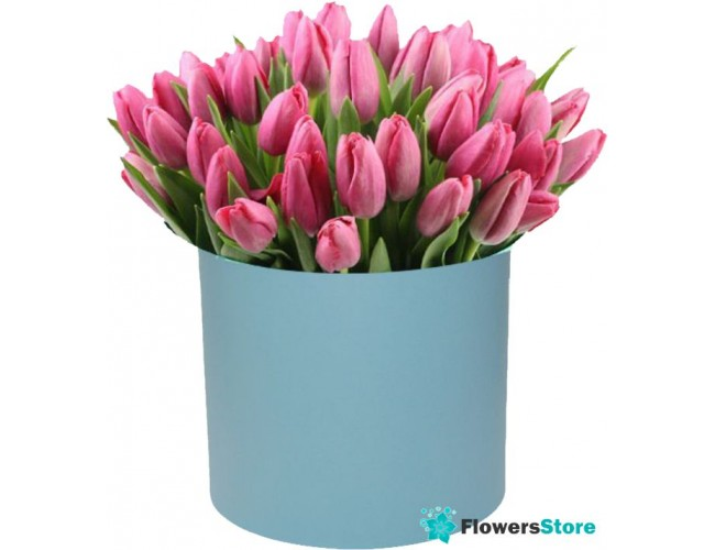 900075dd758 123456789101112131415161718192021222324252627282930313233. Tulips in a hat  box (51 pieces)