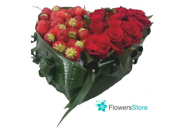 Beautiful and delicious floral composition with delivery to Kiev