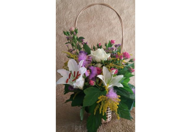 Basket of lily