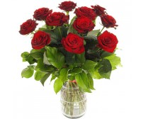 Bouquet of roses (11 red)