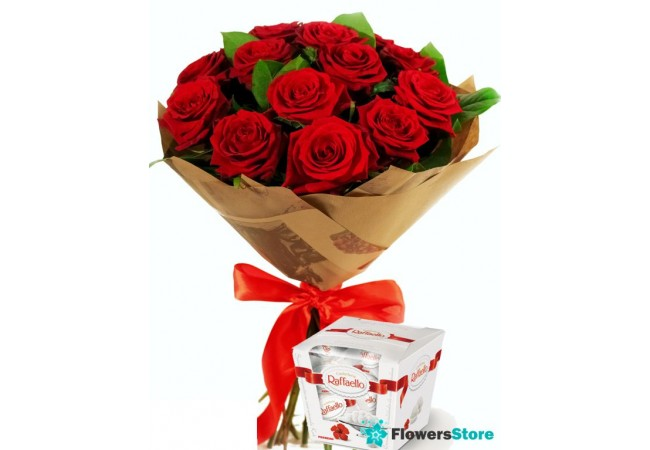 Bouquet of roses (15 pcs.)