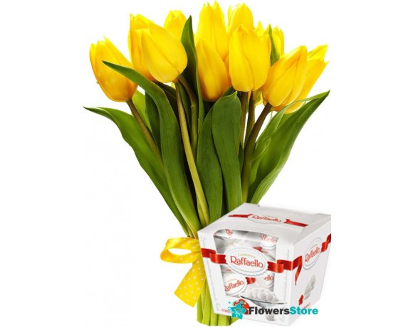 Bouquet of tulips 11 pcs.